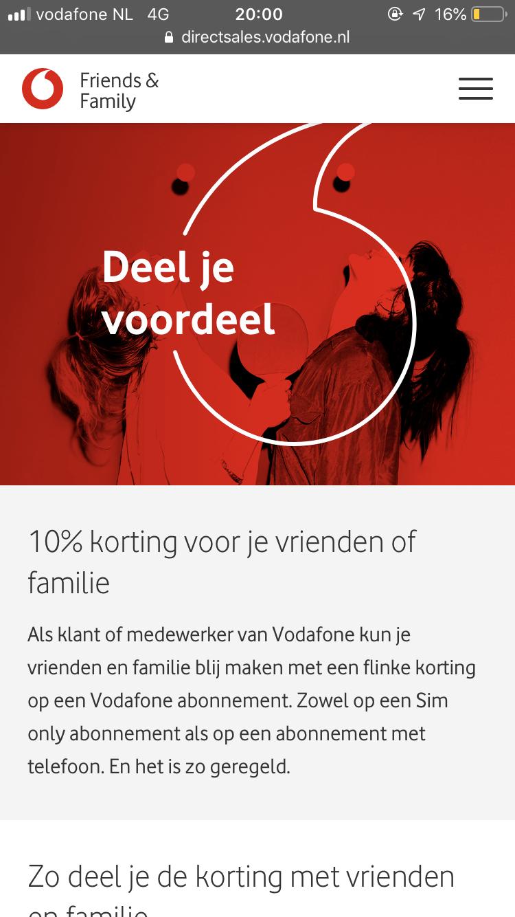 Opgelost: Friends and family code aanvragen - Vodafone